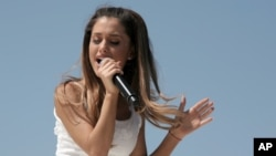 Recording artist Ariana Grande performs on May 11, 2014, in New York.