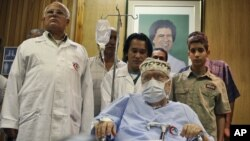 Abdel Baset al-Megrahi at Tripoli Medical Center in Tripoli, Libya, 2009 file photo