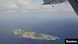 중국 해양감시국 소속 항공기가 지난해 12월 촬영한 센카쿠 열도.