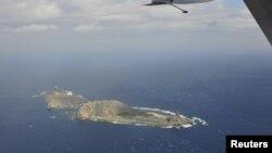 Khu vực đảo đang tranh chấp giữa Nhật Bản và Trung Quốc. Nhật Bản gọi là đảo Senkaku và Trung Quốc gọi là đảo Điếu Ngư