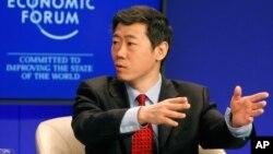 李稻葵在瑞士达沃斯的世界经济论坛(2011年1月29日)
