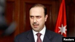 29일 요르단 암만에서 정부 대변인이 기자회견을 가지고 있다.