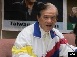 台灣聯合國協進會理事長蔡明憲(美國之音張永泰拍攝)