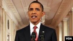 Prezidan ameriken an Barack Obama nan yon diskou li bay nan la mezon blanch lan nan dat lendi 25 jiyè 2011 la sou negosyasyon dèt nasyonal peyi a