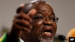 FILE - Gwede Mantashe of the Africa National Congress. (AP Photo/Themba Hadebe)