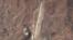 탄도미사일 발사장비를 실은 수송 차량이 발견된 것으로 보도된 구성시 방현 비행장 일대 구글어스 이미지 (자료사진)