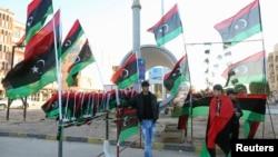 利比亞人慶祝革命紀念日