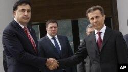Президент Грузии Михаил Саакашвили и премьер-министр страны Бидзина Иванишвили