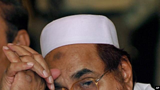 Hafiz Mohammad Saeed, chief of the Jamaat-ud-Dawa, is seen in Islamabad, Pakistan, FILE May 23, 2005.