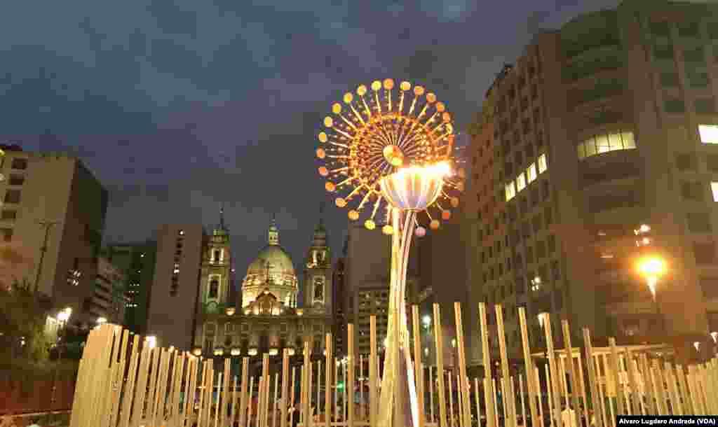 Tocha Olímpica no Bulevar Olímpico, Rio de Janeiro