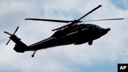 La policía estatal de Maryland dijo que se trataba de un helicóptero Black Hawk.
