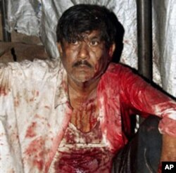 Un blessé de l'une des attaques de Mumbai