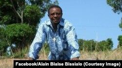 Le père Alain Blaise Bissialo, prêtre catholique et président du comité de paix, a été agressé au couteau à Bangassou, Centrafrique, sur une photo du 6 août 2016. (Facebook/Alain Blaise Bissialo)