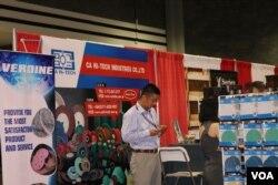 亚特兰大展销会上的中国厂家(美国之音龚小夏 拍摄)