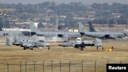 هواپیماهای نظامی آمریکا در پایگاه هوایی اینجرلیک در آدانا، در جنوب ترکیه - آرشیو