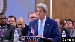 """El secretario de Estado, John Kerry, habló sobre la """"sumamente preocupante"""" situación de Venezuela."""