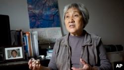 天安门母亲运动发起人之一的张先玲(2014年4月29日资料照片)