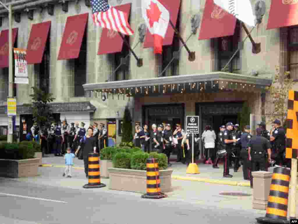 Гостиница, в которой главы государств G8 и G20 встречались на завтраки, обеды и пленарные заседания