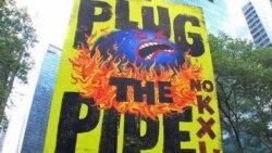 Нью-йоркцы протестуют против нового газопровода