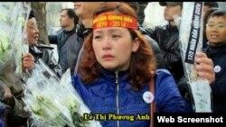Cô Lê Thị Phương Anh bị phạt 12 tháng tù. (Ảnh: chuacuuthe.com)