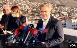 Sattler u posjeti Mostaru na dan izbora
