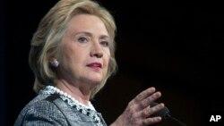 미국 민주당 대선후보로 사실상 확정된 힐러리 클린턴 전 국무장관. (자료사진)