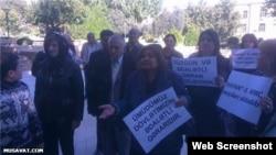 Prezident Administrasiyasının qarşısında aksiya