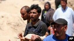 Cư dân Ramadi rời bỏ nhà cửa chạy tới Baghdad để tránh giao tranh, ngày 16/5/2015.