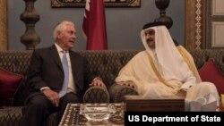 Tillerson Qatar Sheikh Tamim Bin Hamad Al Thani
