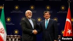 وزیران خارجه ایران و ترکیه، آنکارا، اول نوامبر ۲۰۱۳