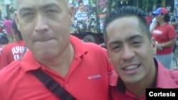 José Odreman ( izquierda) asesinado durante un allanamiento policial junto al diputado Robert Serra, también asesinado el pasado 1 de octubre.