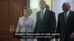 Obama Visits Congress Ahead of Key Trade Bill Vote