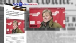 VOA60 Elections - WP: Trump's choice of Stephen Bannon as his chief strategist has drawn criticism