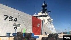 La Guardia Costera de EE.UU. informó el miércoles 16 de diciembre de 2020 de la incautación de un cargamento de cocaína y marihuana en aguas del Mar Caribe. [Foto: Antoni Belchi, VOA.]