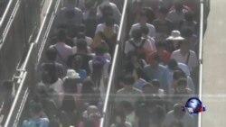 北京加强安检 地铁大排长龙
