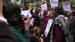 인도 여성들, 성범죄 방지 대책 요구