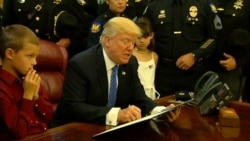 Trump Vows Action on Crimes Against Police