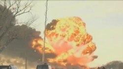 Explota tren en Dakota del Norte