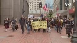 波士顿游行撑香港 呼吁团结对抗极权