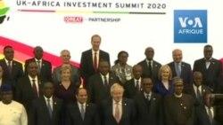 Les dirigeants du UK-Africa Investment Summit posent pour une photo de famille