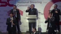 Protesters Heckle Turkish President Erdogan During Speech