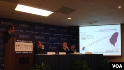 哈德遜研究所舉辦美台經濟研討會。 (美國之音 鐘辰芳拍攝)