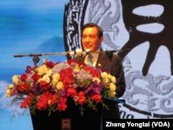 台灣前總統馬英九(美國之音張永泰拍攝)