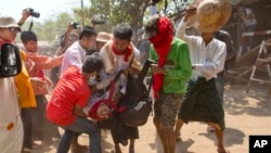 Myanmar Police Clash With Students
