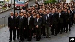 Luật sư Hồng Kông tuần hành phản đối 'sự can thiệp' của TQ vào ngành tư pháp, 27/6/2014.