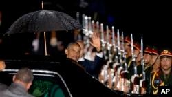 2016年9月6日,美国总统奥巴马乘专机抵达老挝万象国际机场。