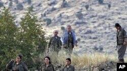 Irak'ın Kandil dağında bir PKK kampı