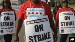 Забастовка учителей в Чикаго, Иллинойс. 17 сентября 2012 года