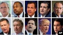2016년 미국 대선 공화당 경선 후보들. (자료사진)