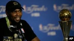 Kevin Durant, Golden State Warriors, Oakland, Californie, le 12 juin 2017.